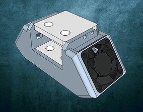 Ultimaker 2 fan casing extruder 3D printable model