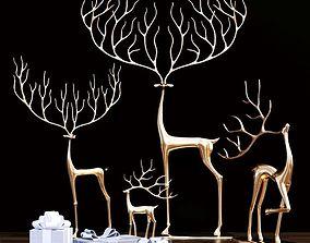 Merry reindeer 3D model
