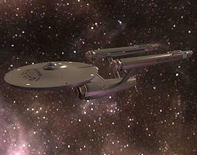 3D model USS Enterprise NCC-1701