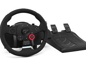3D Logitech Gaming Wheel