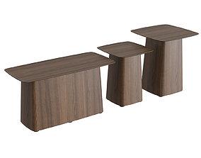 3D corona Wooden Side Table