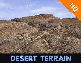 Mountain Rocks Landscape Terrain Desert Cliff PBR 3D model