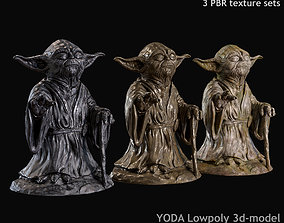 realtime Yoda Figurine fan lowpoly PBR 3d model