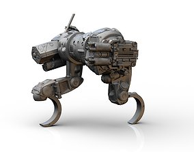 Sabueso All terrain military mech vehicle 3D print model