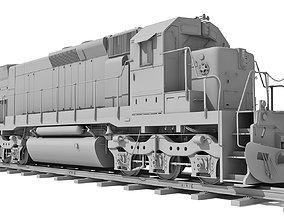 3D Train Locomotive 033