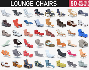 Lounge Chairs Collection 3D model