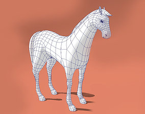 Horse low-poly model game-ready