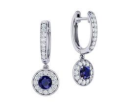canada Hoop Earrings Diamond earrings 3dmodel