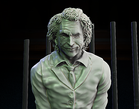 3D printable model joker - jail scene plus bust stl file