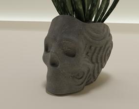 plant pot planter skull 53 3D print model