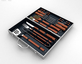 3D Barbecue Tool Set