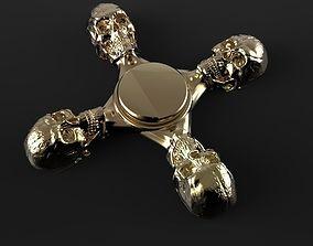 3D print model Premium spinner Skull 4-arm