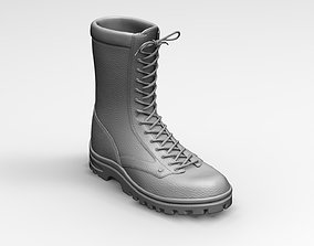Qualitative Zbrush 3d model of Army Boots military