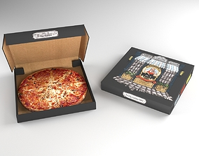 Pizza Package 3D model game-ready
