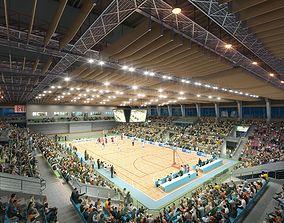 Basketball Hall 001 3D model
