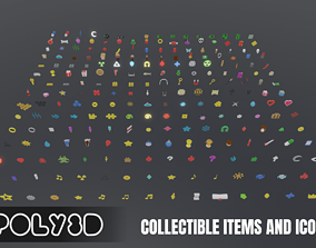 3D model LowPoly Collectible Items and Icons