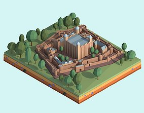 Cartoon Low Poly Tower Of London 3D asset