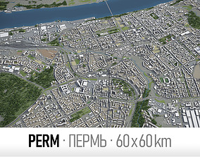 Perm - city and surroundings 3D model