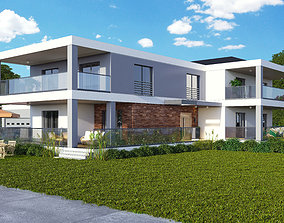 Villa Exterior Scene 3D model