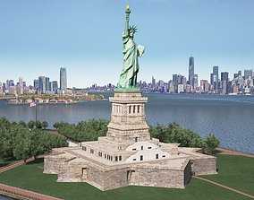Statue of Liberty 3D manhattan
