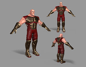 Superhero 3D asset low-poly