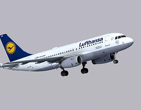 3D asset Airbus A319 Lufthansa