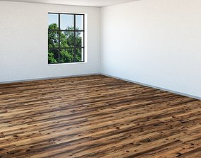 Light Oak Floor Multitexture Solid Boards 3D asset