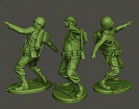 American soldier ww2 throwing grenade A3 3D print model