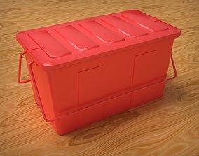 3D asset low-poly Plastic Box storage