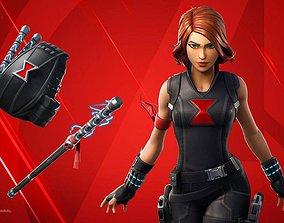 3D Black widow rigged Natasha