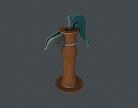 3D model Water Pump Hand Painted