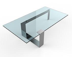 Plinsky Glass Coffee Table 3D model