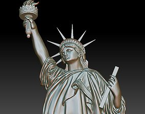 3D printable model Statue of Liberty bas-relief