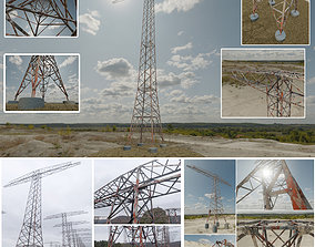 Rusty Transmission Tower Package 3D model