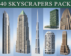 Skyscraper Pack 3D model