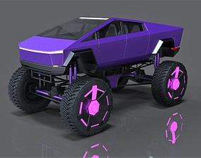 3D model Tesla Cyberpunk Monster truck concept