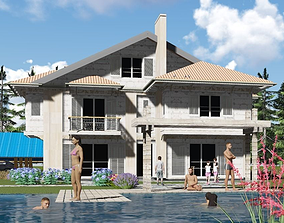 House Buselik 3D model