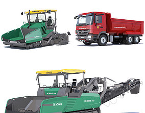3D Paving Machines Collection