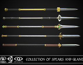 3D model Collection of Spears and Glaive