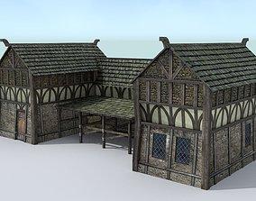Medieval Village Stable 3D model