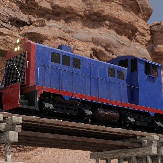 Diesel locomotive 3D models