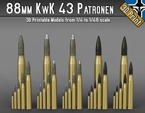 88mm KwK 43 Patronen --- 1-4 to 1-48 scale models ---
