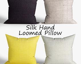 westelm 3D model Decorative pillows set 013