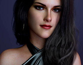 Kristen Stewart 3D model rigged