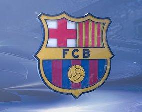 F C Barcelona Shield 3D