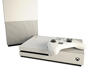3D model Game Console And Joystick Xbox Slim
