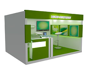 Booth Exhibition Stand a405b 3D