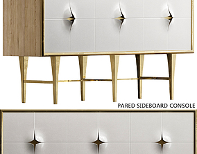 realtime Pared Sideboard Console low poly 3d model