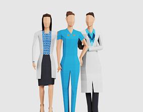 Science Women 3D model