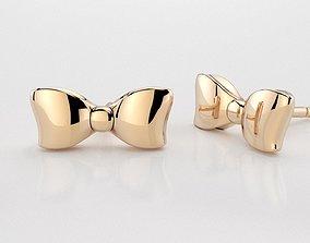 Bow earring 3D print model